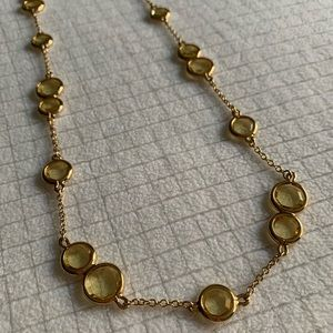 Kate Spade faceted stone necklace